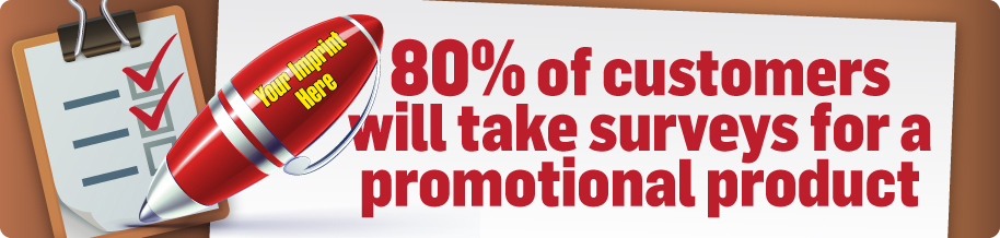 80% of people take survey for promotional